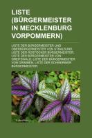 Liste (Bürgermeister in Mecklenburg-Vorpommern)
