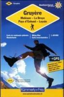Schweizer Wanderkarte 16 Gruyère Moléson - La Broye-Pays d'Enhaut-Leysin 1 : 60 000