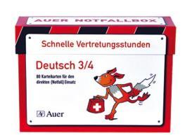 Schnelle Vertretungsstunden Deutsch 3/4, 1. Auflage