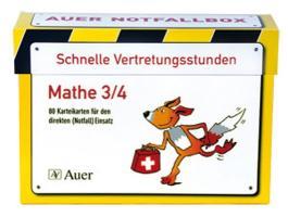 Schnelle Vertretungsstunden Mathe 3/4, 1. Auflage