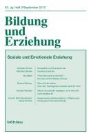 Bildung und Erziehung / Soziale und emotionale Erziehung