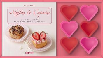 Muffins & Cupcakes-Set: Neue Ideen für kleine Kuchen & Törtchen. Buch mit Silikonförmchen