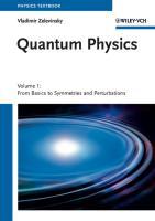 Quantum Physics, 2 Volume Set Vladimir Zelevinsky Author