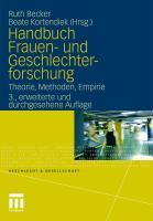 Handbuch Frauen- und Geschlechterforschung: Theorie, Methoden, Empirie (Geschlecht und Gesellschaft, 35, Band 35)