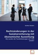 Rechtsänderungen in der Sozialversicherung mit ökonomischer Auswirkung