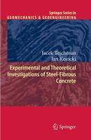 Experimental and Theoretical Investigations of Steel-Fibrous Concrete (Springer Series in Geomechanics and Geoengineering)