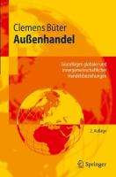 Außenhandel: Grundlagen globaler und innergemeinschaftlicher Handelsbeziehungen (Springer-Lehrbuch) (German Edition)
