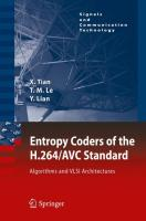 Entropy Coders of the H.264/AVC Standard: Algorithms and VLSI Architectures