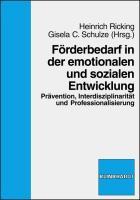 Förderbedarf in der emotionalen und sozialen Entwicklung