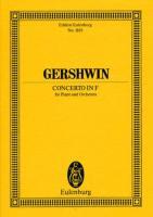 Concerto in F Major for Piano & Orchestra. Miniature Score