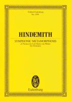 Sinfonische Metamorphosen: nach Themen von Carl Maria von Weber. großes Orchester. Studienpartitur. (Eulenburg Studienpartituren)