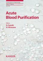 Acute Blood Purification