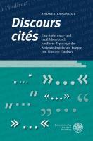 'Discours cités'