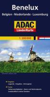 ADAC Länderkarte Benelux, Belgien, Niederlande, Luxemburg 1:300.000