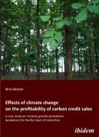 Effects of climate change on the profitability of carbon credit sales. A case study on Tectona grandis plantations located on the Pacific Coast of Cos