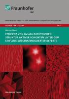 Effizienz von GaInN-Leuchtdioden: Struktur aktiver Schichten unter dem Einfluss substratinduzierter Defekte: Science for systems