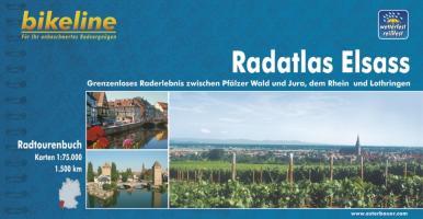 Elsass Radatlas zw. Pfälzerwald & Jura, Rhein & Loth. GPS wp (Bikeline Radtourenbuch)