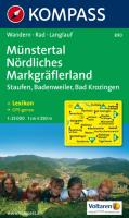 Münstertal, Nördliches Markgräflerland: Staufen, Badenweiler, Bad Krozingen. Wandern / Rad / Langlauf. 1:25.000. GPS-genau