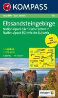 Elbsandsteingebirge - Nationalpark Sächsische Schweiz - Nationalpark Böhmische Schweiz: Wanderkarte mit Aktiv Guide, Radrouten und Reitwegen. ... 1:25 000 (KOMPASS-Wanderkarten, Band 761)