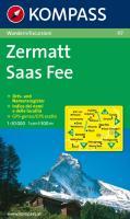 Zermatt, Saas Fee 1 : 50 000: Wanderkarte. Orts- und Namensregister. Carta escursioni. Indice dei nomi e delle località. GPS-genau
