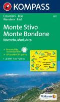 KOMPASS Wanderkarte Monte Stivo - Monte Bondone - Rovereto - Mori - Arco