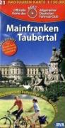 ADFC-Radtourenkarte 21 Mainfranken / Taubertal 1 : 150 000