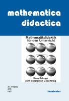 mathematica didactica Sonderheft Hischer/Schupp