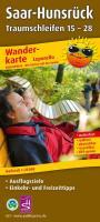 Wanderkarte Leporello Saar-Hunsrück Traumschleifen 15-28:mit Ausflugszielen, Einkehr- & Freizeittipps, wetterfest, reißfest, abwischbar, GPS-genau. 1:25000