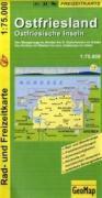 Radwanderkarte Ostfriesland 1:75 000: Von Wangerooge im Norden bis Bad Zwischenahn im Süden. Von Borkum im Westen bis zum Jadebusen im Osten (Geo Map)
