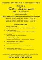 """Akkord-Stimme (MVK 301706) für Tasten-Instrumente /Akkordeon zu den 3 Notenbänden """"Duos für festliche Anlässe und besinnliche Stunden"""" (Violin-Duos: MVK 171706; Viola + Violine: MVK 801706, Cello + Violine: MVK 901706)"""