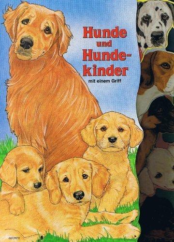 Hunde und Hundekinder mit einem Griff
