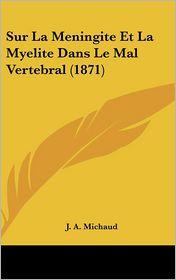 Sur La Meningite Et La Myelite Dans Le Mal Vertebral (1871) - J. A. Michaud
