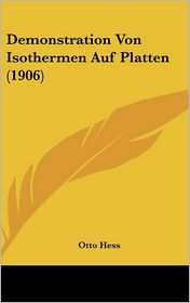 Demonstration Von Isothermen Auf Platten (1906) - Otto Hess