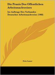 Die Praxis Des Offentlichen Arbeitsnachweises: Im Auftrage Des Verbandes Deutscher Arbeitsnachweise (1908) - Fritz Lauer (Editor)