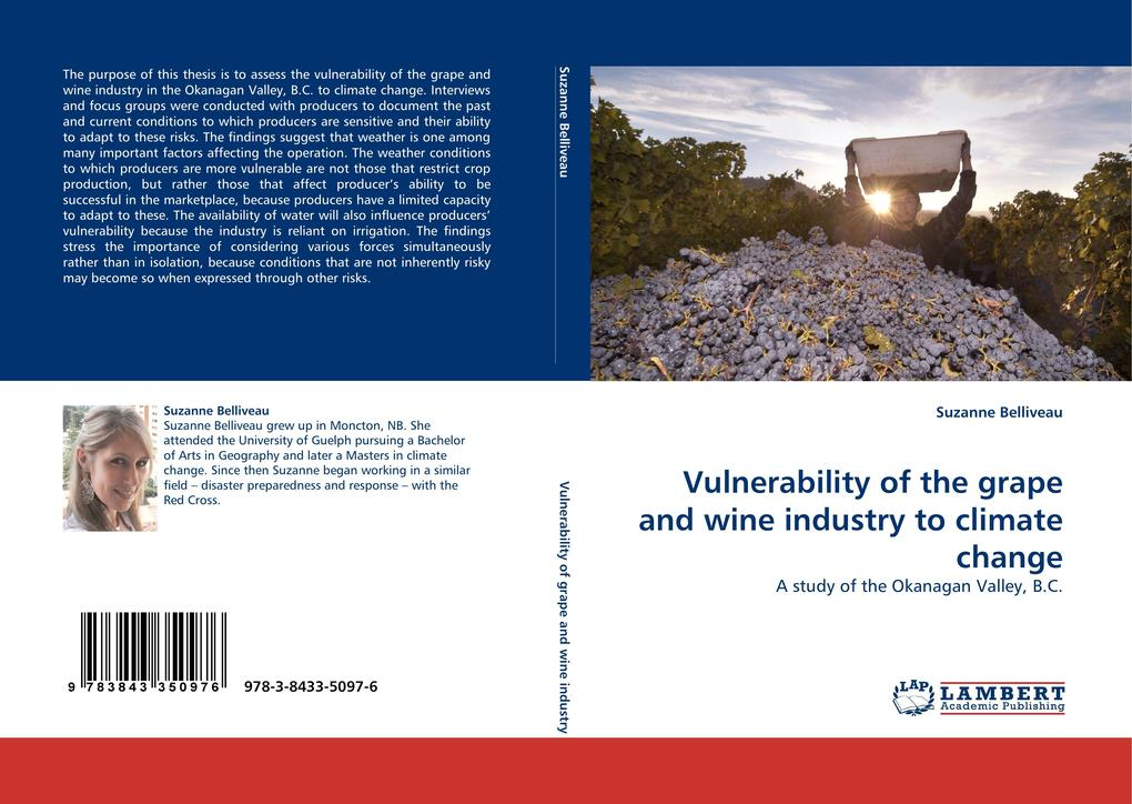 Vulnerability of the grape and wine industry to climate change als Buch von Suzanne Belliveau - LAP Lambert Acad. Publ.